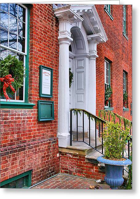 Old Inns Photographs Greeting Cards - Gadsby Tavern II Greeting Card by Steven Ainsworth