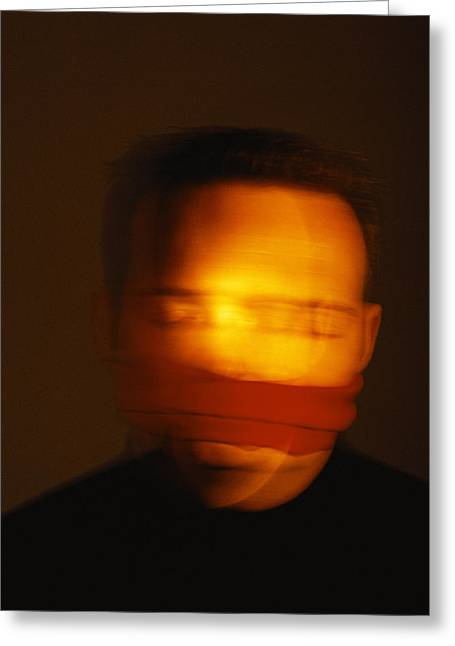 Disability Photographs Greeting Cards - Gagged Man Greeting Card by Cristina Pedrazzini