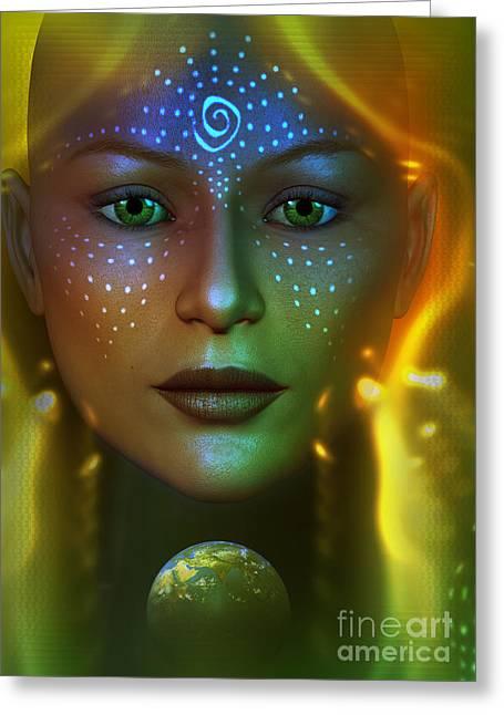 Gaia 2 Greeting Card by Shadowlea Is