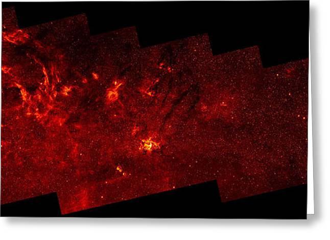 Nasa Space Program Greeting Cards - Galactic Center, Mosaic Infrared Image Greeting Card by NASA/Science Source