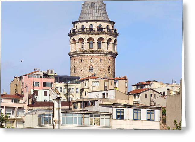 Galata Tower in Istanbul Greeting Card by Artur Bogacki