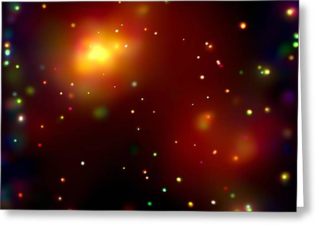 Ursa Minor Greeting Cards - Galaxy Cluster Abell 2125 Greeting Card by NASA / Science Source
