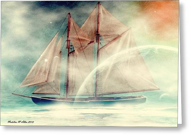 Water Vessels Digital Art Greeting Cards - Galaxy Ghost Greeting Card by Madeline  Allen - SmudgeArt