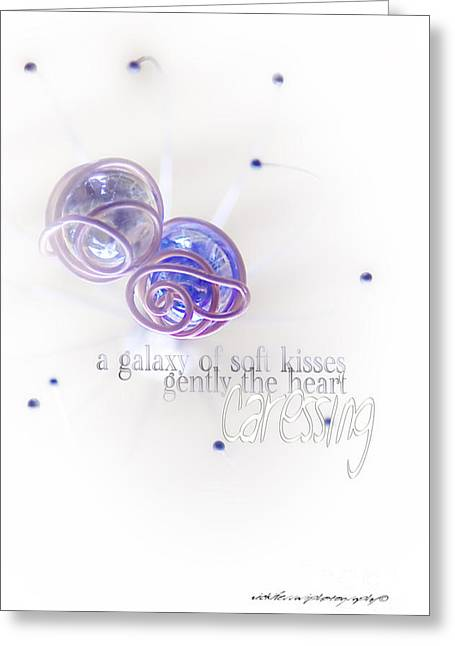 Muted Mauve Greeting Cards - Galaxy of Love Greeting Card by Vicki Ferrari Photography