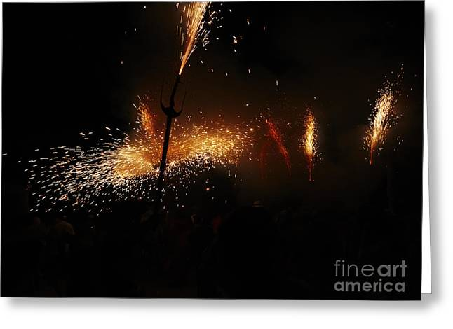 Fuegos Artificiales Greeting Cards - Galaxy of sparks Greeting Card by Agusti Pardo Rossello