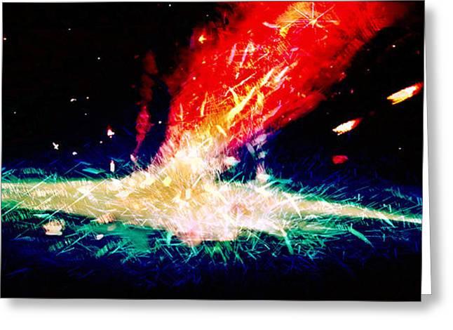 Susan Leggett Digital Greeting Cards - Galaxy Splash Greeting Card by Susan Leggett