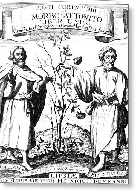 Hippocratic Greeting Cards - Galen And Hippocrates, Greek Physicians Greeting Card by Science Source