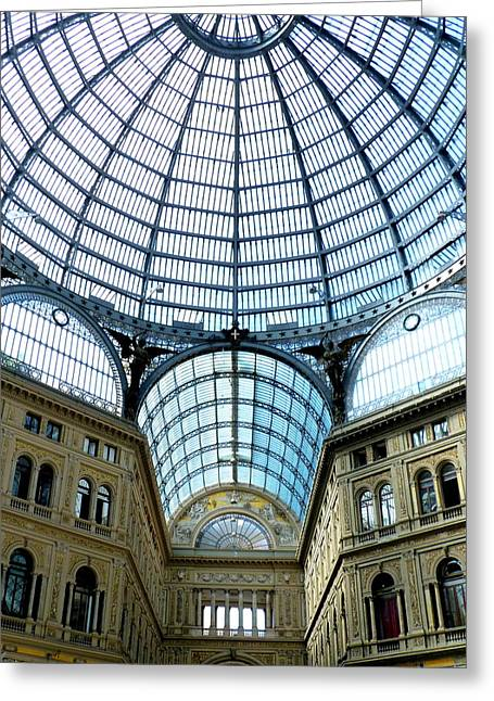 Galeria Greeting Cards - Galeria Umbertos Dome Greeting Card by Carla Parris