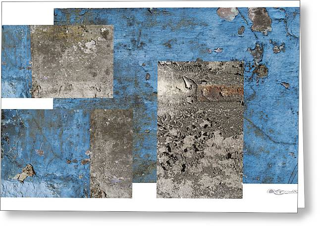 Xoanxo Digital Art Greeting Cards - Galician weathered wall Greeting Card by Xoanxo Cespon