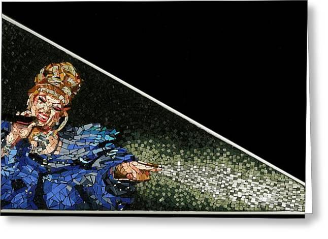 Mosaic Portraits Mixed Media Greeting Cards - Galilea Greeting Card by Michael Kruzich