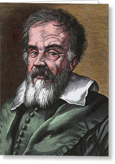 Science Greeting Cards - Galileo Galilei, Italian Astronomer Greeting Card by Bill Sanderson