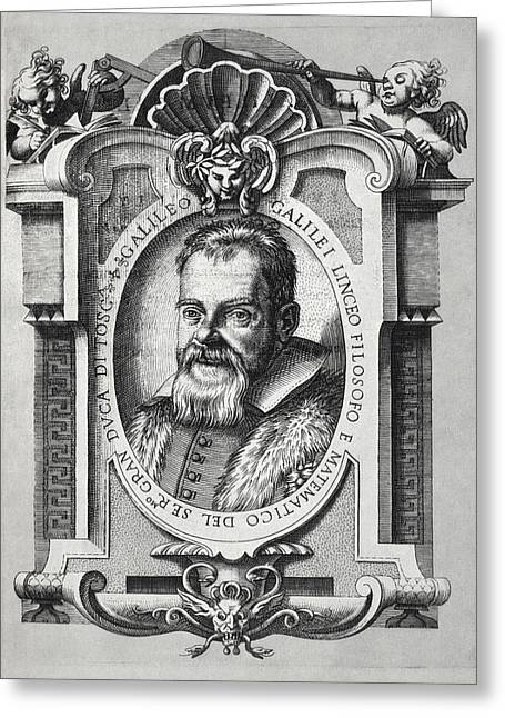 Galileo Greeting Cards - Galileo Galilei, Italian Astronomer Greeting Card by Humanities & Social Sciences Librarynew York Public Library