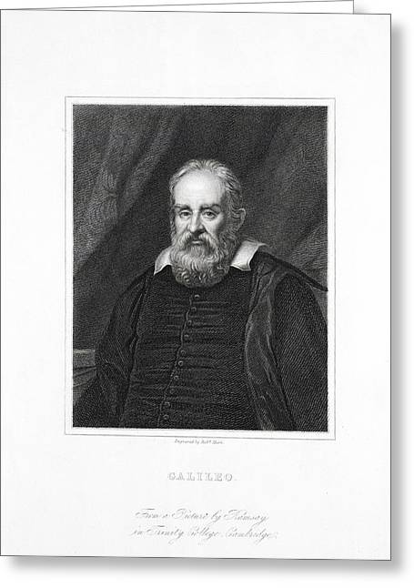 Caption Greeting Cards - Galileo Galilei, Italian Astronomer Greeting Card by Library For The Performing Artsnew York Public Library