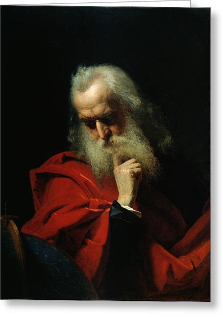 Pensive Greeting Cards - Galileo Galilei Greeting Card by Ivan Petrovich Keler Viliandi