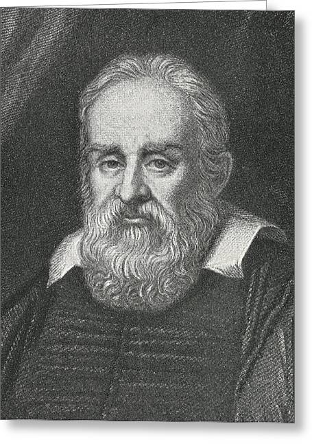 Surname G Greeting Cards - Galileo, Italian Astronomer Greeting Card by Science, Industry & Business Librarynew York Public Library