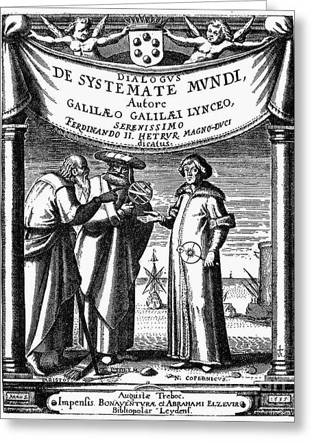 Galileo: Title Page, 1635 Greeting Card by Granger