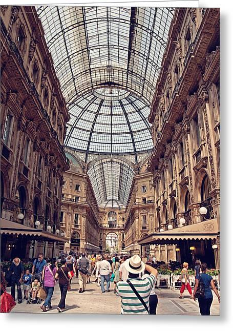 Italian Shopping Photographs Greeting Cards - Galleria Vittorio Emanuele Greeting Card by Benjamin Matthijs
