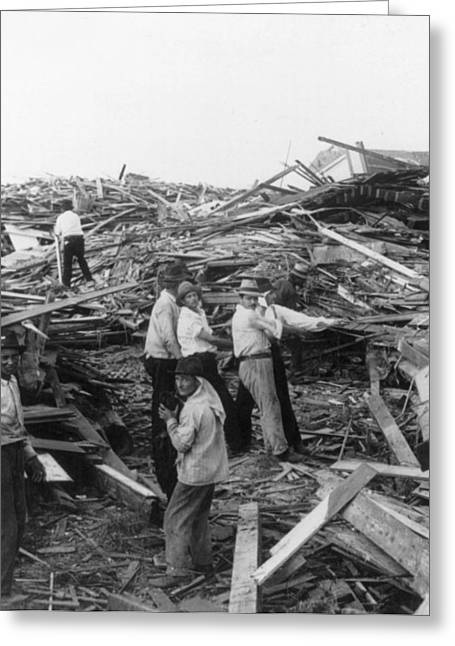 Galveston Greeting Cards - Galveston Disaster - c 1900 Greeting Card by International  Images
