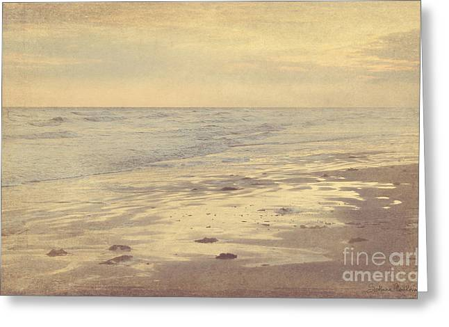 Sunset Posters Greeting Cards - Galveston Island sunset seascape photo Greeting Card by Svetlana Novikova