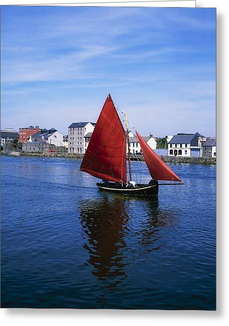Recently Sold -  - Historical Images Greeting Cards - Galway, Co Galway, Ireland Galway Greeting Card by The Irish Image Collection