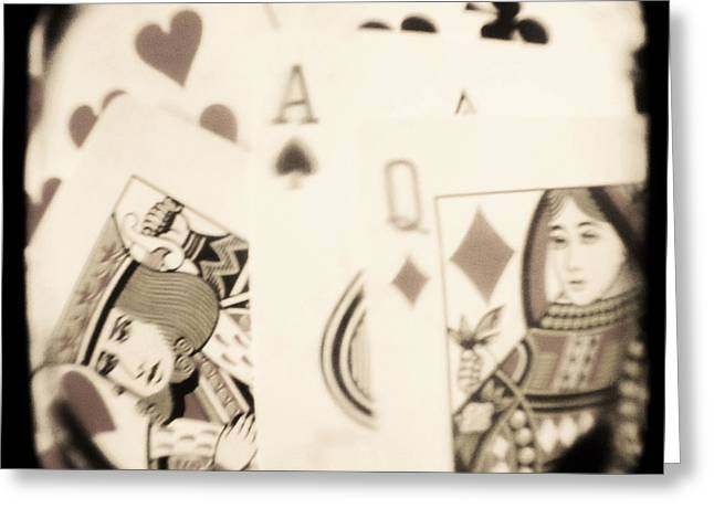 Playing Cards Photographs Greeting Cards - Gambit Greeting Card by Andrew Paranavitana