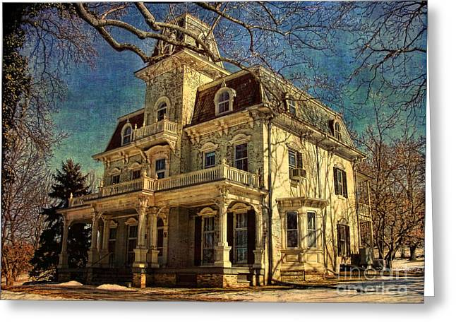 Gambrills Greeting Cards - Gambrill Mansion Greeting Card by Lianne Schneider