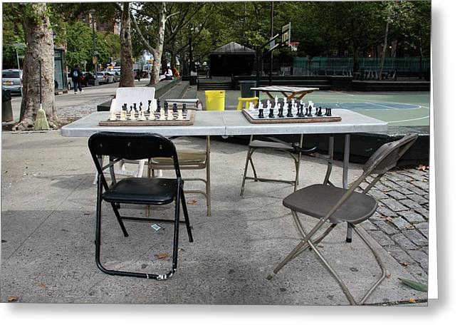 Best Sellers -  - Basket Ball Game Greeting Cards - Game Of Chess Anyone Greeting Card by Terry Wallace