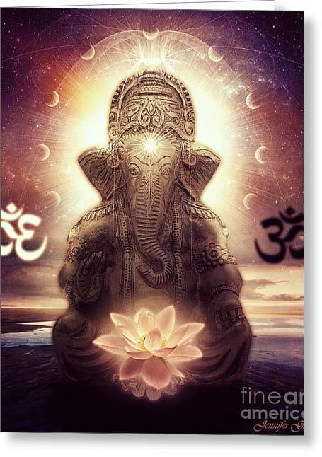 Ganesh Greeting Cards - Ganesh Greeting Card by Jennifer Gelinas