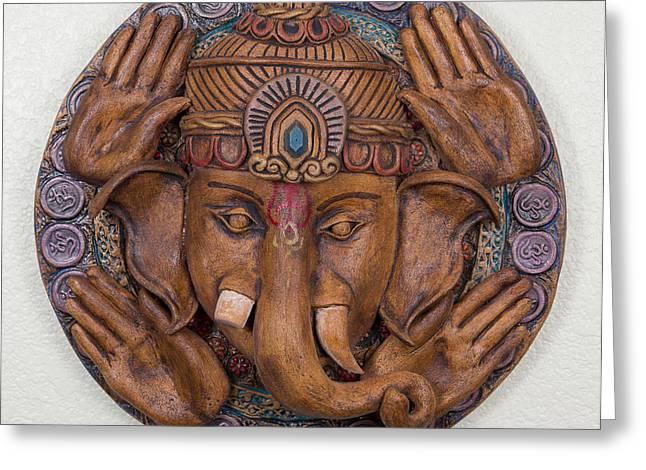 Jamie Ceramics Greeting Cards - Ganesha Greeting Card by Jaimie Gunn