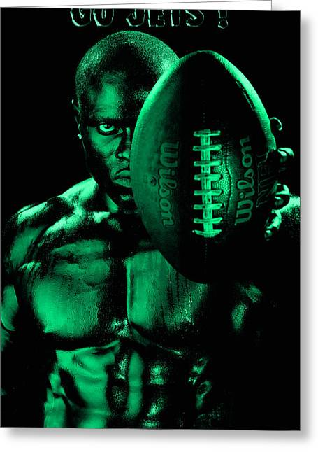 National Football League Greeting Cards - Gang Green Challenge Greeting Card by Val Black Russian Tourchin