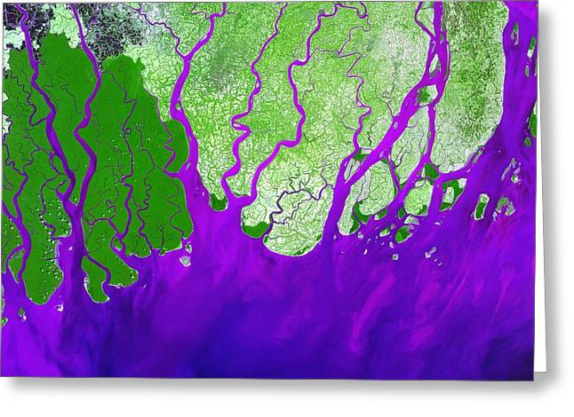 River Flooding Greeting Cards - Ganges Delta Greeting Card by NASA / Science Source