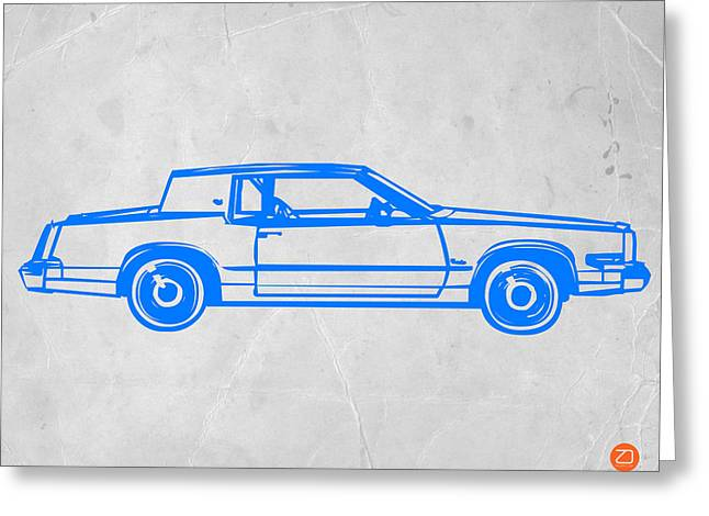 Kid Paintings Greeting Cards - Gangster car Greeting Card by Naxart Studio