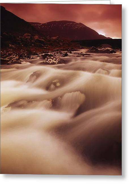 White River Scene Greeting Cards - Gap Of Dunloe, River Loe, County Kerry Greeting Card by Richard Cummins