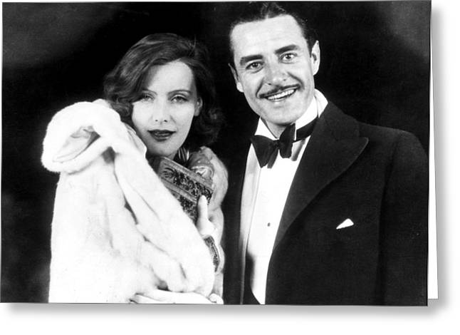 Bowtie Greeting Cards - Garbo And Gilbert, 1927 Greeting Card by Granger