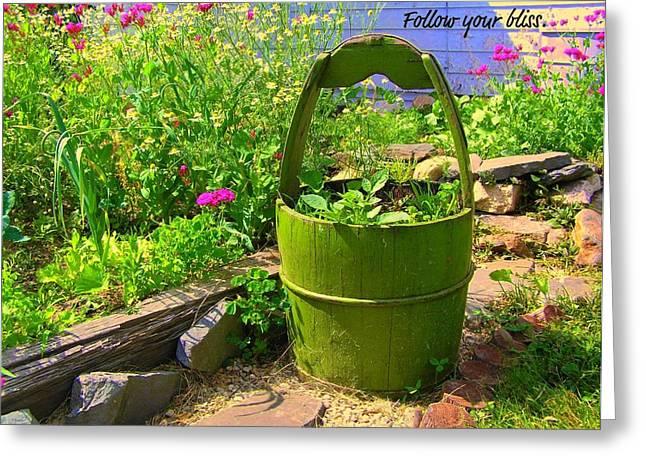 Garden Bliss Greeting Card by Jen White