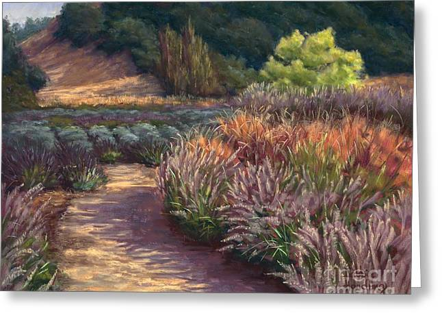 Sonoma Pastels Greeting Cards - Garden Crescendo Greeting Card by Debbie Harding