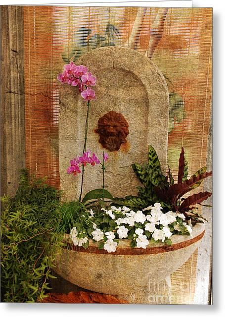 Garden Deco Greeting Card by Susanne Van Hulst