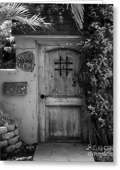 Old San Juan Greeting Cards - Garden Doorway 2 Greeting Card by Perry Webster