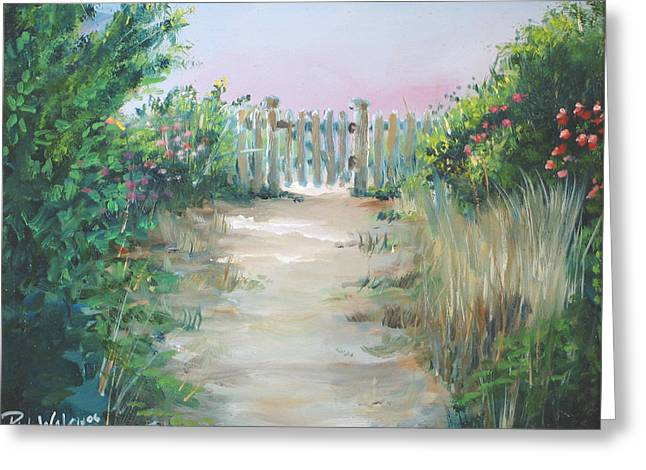 At The Beach Greeting Cards - Garden Fence Greeting Card by Paul Walsh