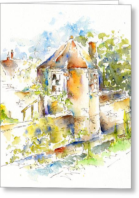 Wow Paintings Greeting Cards - Garden Folly - Bow Wow Lane Greeting Card by Pat Katz