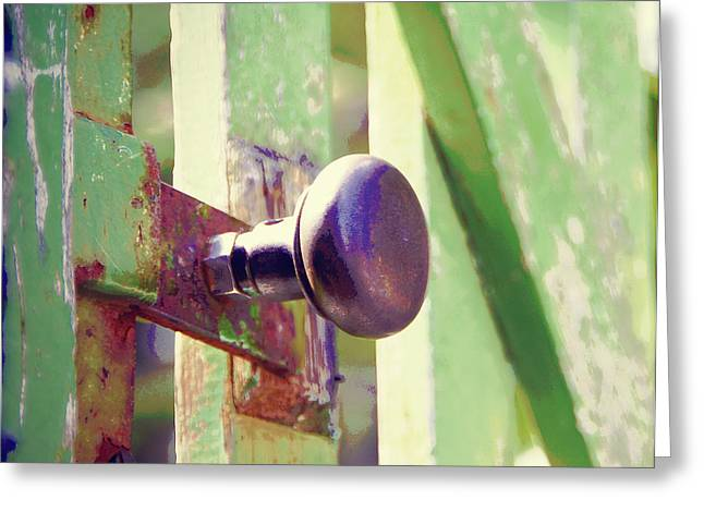 Painted Garden Gate Greeting Cards - Garden Gate Greeting Card by Marilyn Wilson