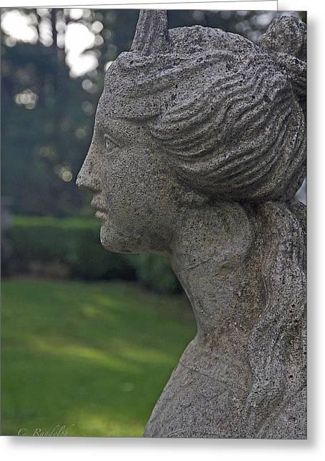 Garden Statuary Greeting Cards - Garden Gaze Greeting Card by Cheri Randolph