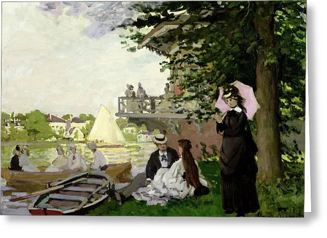 Water Garden Greeting Cards - Garden House on the Zaan - Zaandam Greeting Card by Claude Monet