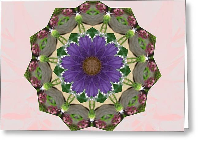 Garden Mandala... Greeting Card by Rene Crystal