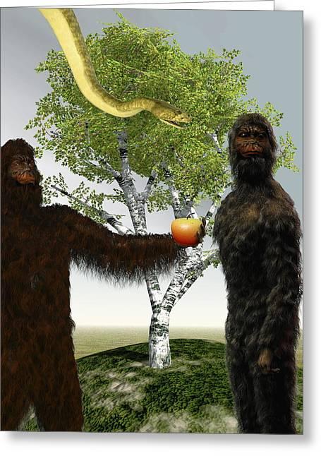 Forbidden Fruit Greeting Cards - Garden Of Eden, Computer Artwork Greeting Card by Christian Darkin