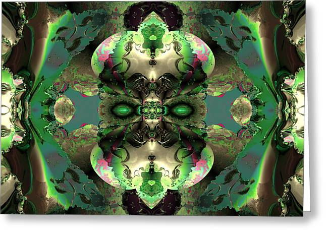 Algorithmic Abstract Greeting Cards - Garden of green Greeting Card by Claude McCoy