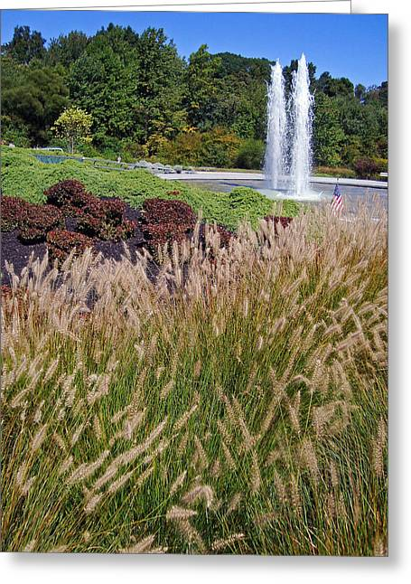 Wtc 11 Greeting Cards - Garden of Reflections Greeting Card by David Rucker