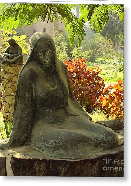 Mideast Greeting Cards - Garden of Statues Egypt Greeting Card by Mary Machare