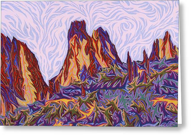 Formation Pastels Greeting Cards - Garden of the Gods Greeting Card by Robert  SORENSEN