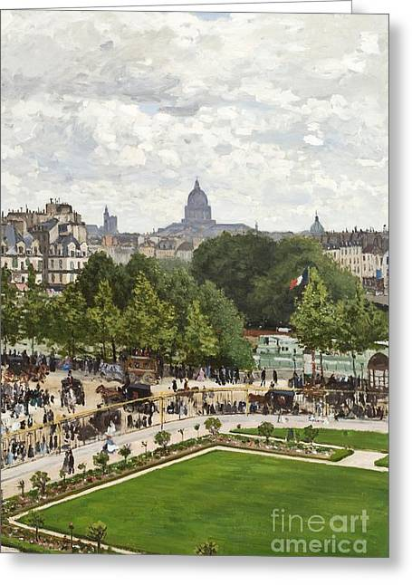 Le Jardin Greeting Cards - Garden of the Princess Greeting Card by Claude Monet